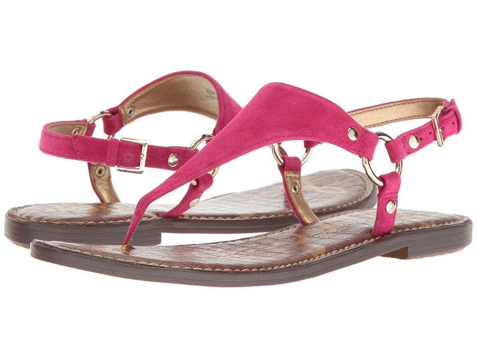 Sam Edelman - Greta (Very Berry Kid Suede Leather) Women's Sandals