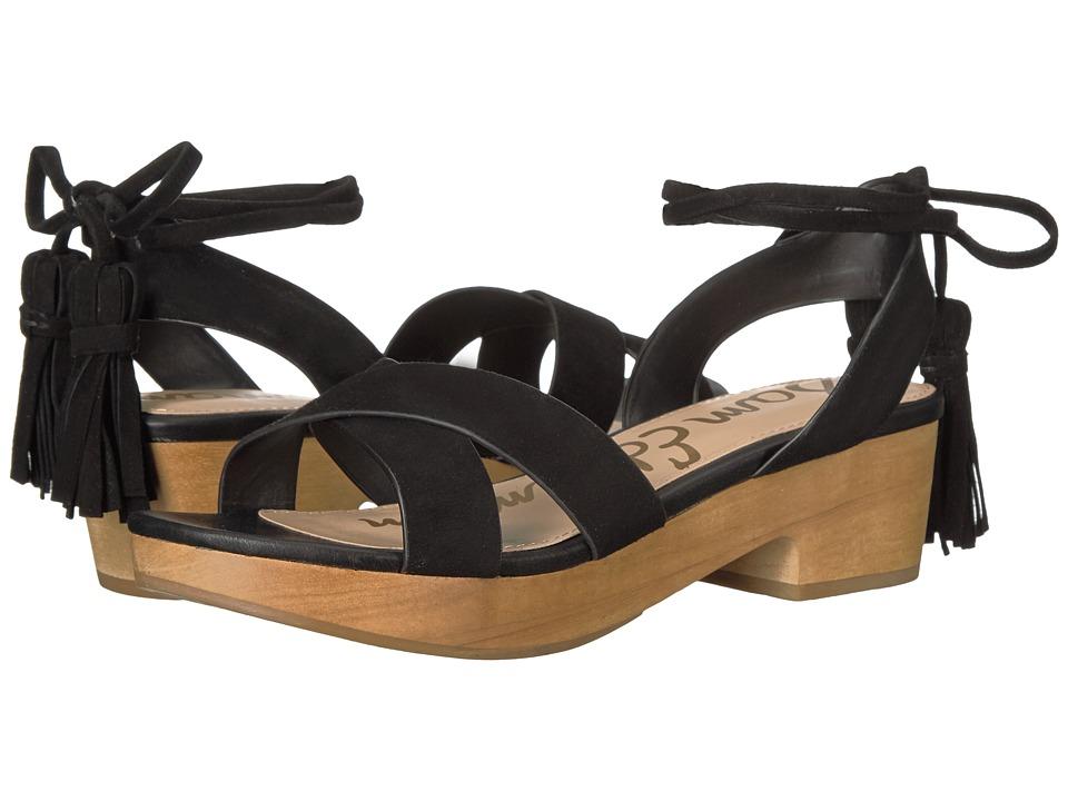 Sam Edelman - Jenna (Black Kid Suede Leather) Women's Shoes