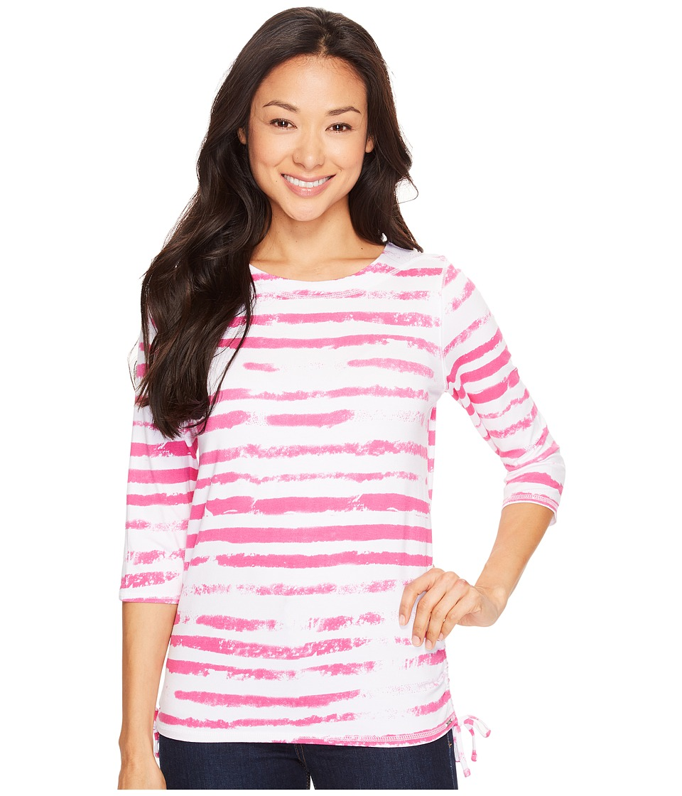 FDJ French Dressing Jeans - Cloud Stripe Top (Fuchsia) Women's Long Sleeve Pullover