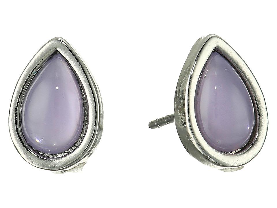 Rebecca Minkoff - Teardrop Stud Earrings (Milky Lavender/Silver) Earring