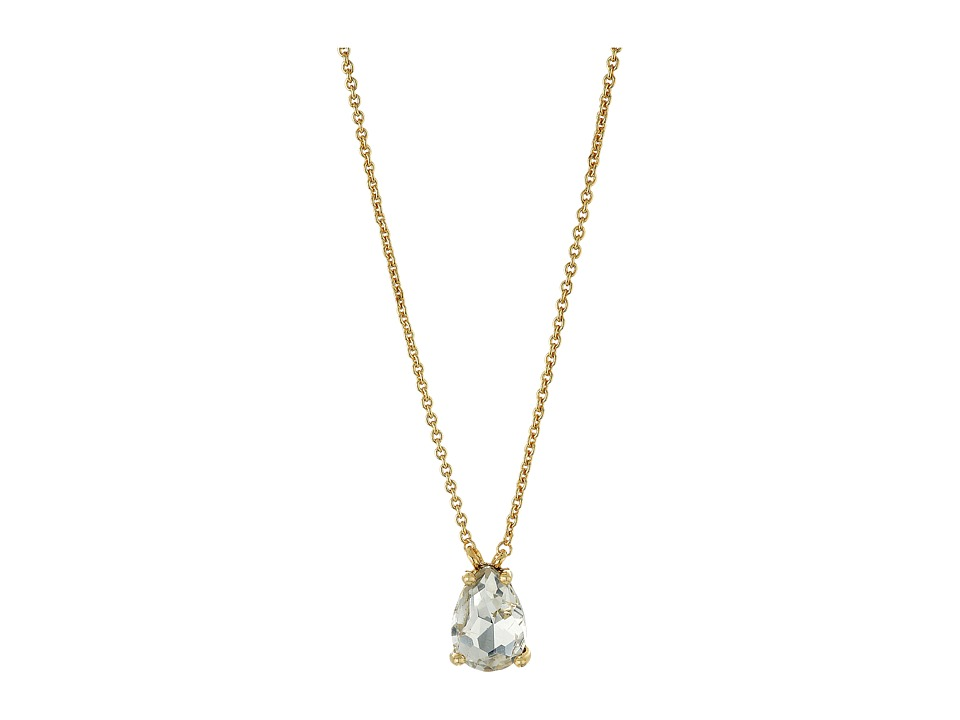 Rebecca Minkoff - Crystal Drop Delicate Necklace (Crystal/Gold) Necklace