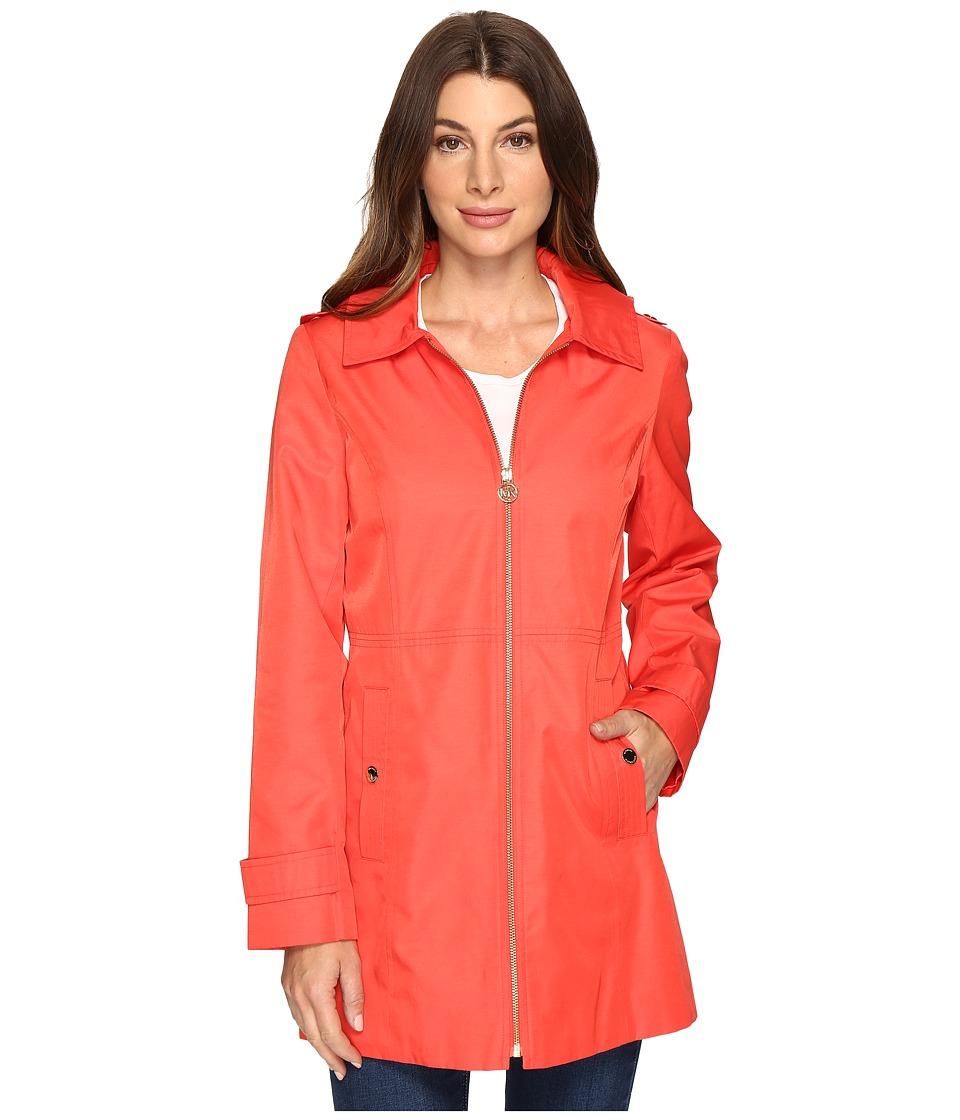 MICHAEL Michael Kors - Zip Front Shaped Topper M722069R74 (Hot Coral) Women's Coat