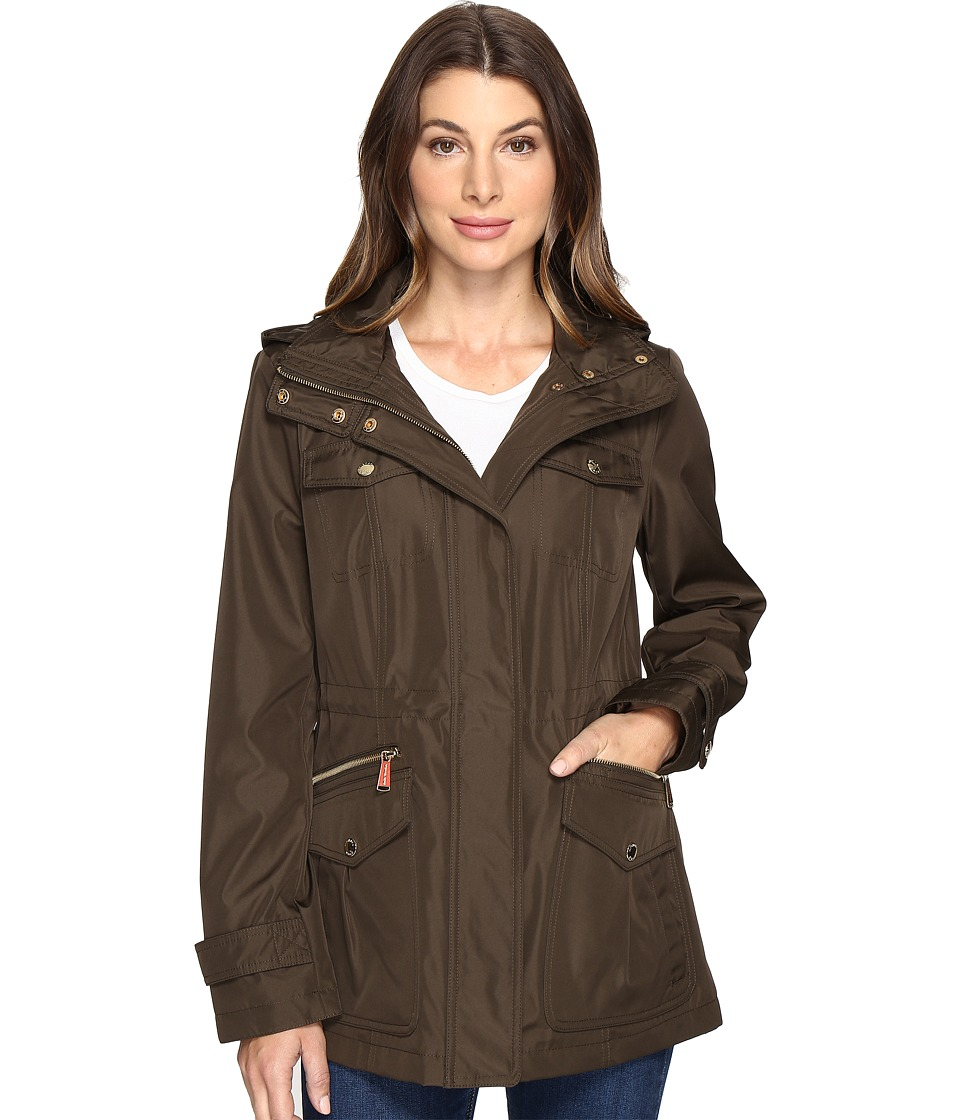 MICHAEL Michael Kors - Four-Pocket Hooded Anorak M322149R74 (Dark Loden) Women's Coat