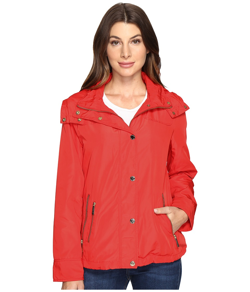 MICHAEL Michael Kors - Hooded Snap Front Jacket M322087R (Coral Reef) Women's Jacket