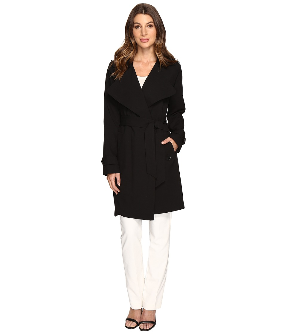 MICHAEL Michael Kors - Wrap Coat M722014R74 (Black) Women's Coat