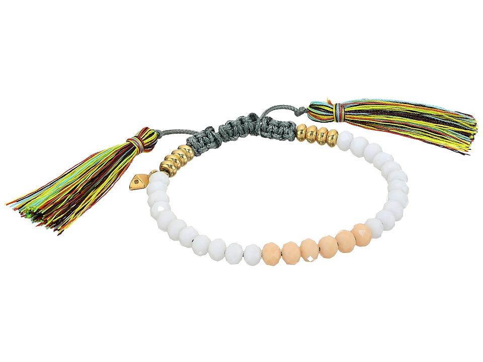 Rebecca Minkoff - Tropics Tassel Pulley Bracelet (White Beads/True Multi Tassels) Bracelet