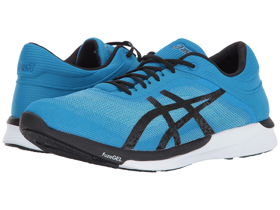 ASICS - FuzeX Rush (Aqua Splash/Black/Diva Blue) Men's Running Shoes