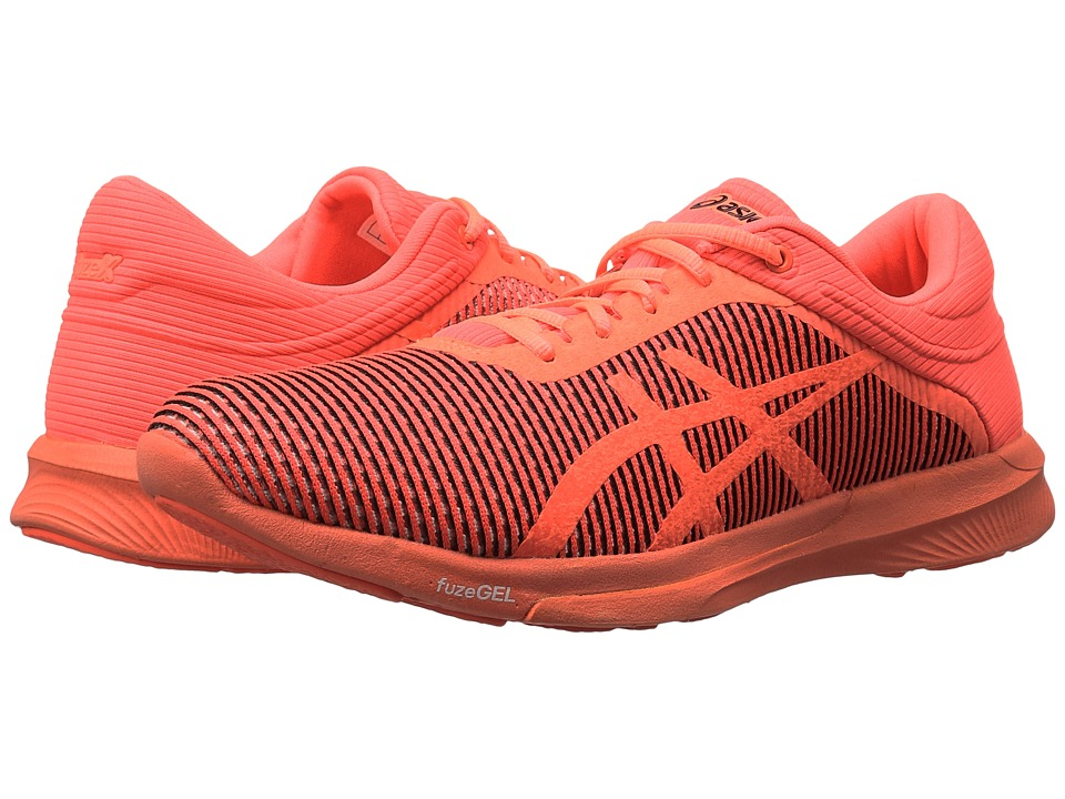 ASICS - FuzeX Rush CM (Flash Coral/Flash Coral) Women's Running Shoes