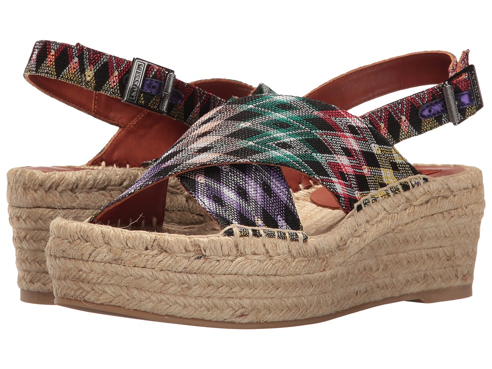 Missoni - Printed Cross Band Flatform (Multi) Women's Shoes