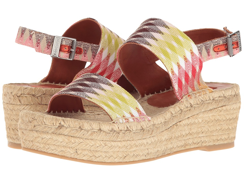 Missoni - Double Band Flatform (Multi) Women's Shoes