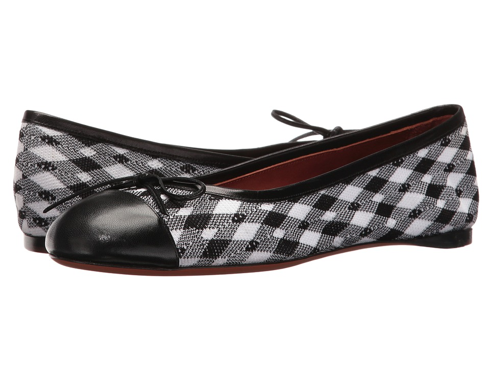 Missoni - Printed Ballerina (Black/White) Women's Shoes
