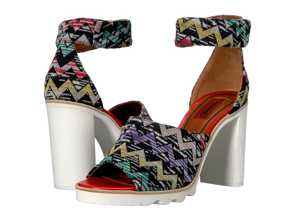 Missoni - Ankle Band Zigzag Sandal (Multi) Women's Shoes