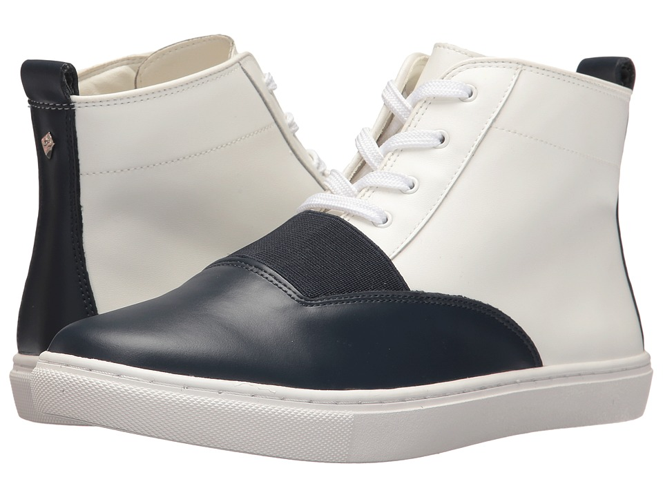 Sam Edelman Paulette (White/Navy Leather) Women