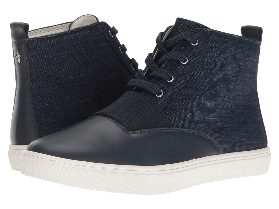 Sam Edelman Paulette Navy Denim-Leather Womens  Shoes