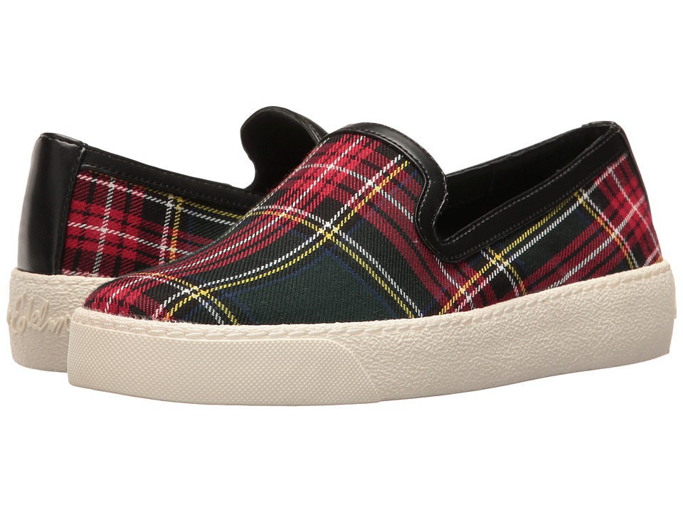 Sam Edelman - Becker (Red/Black School Boy Plaid) Women's Slip on Shoes