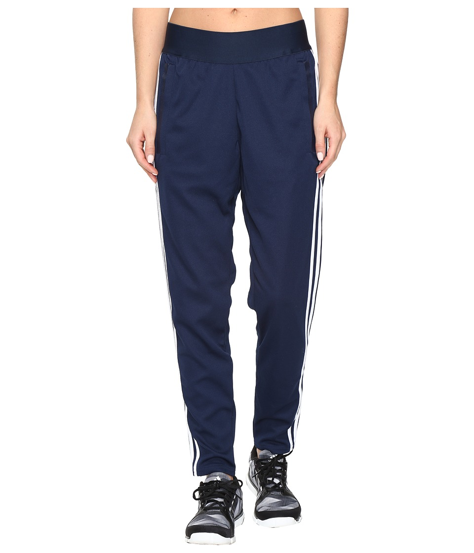 adidas 3 Stripe Tapered Pants (Collegiate Navy/White) Women