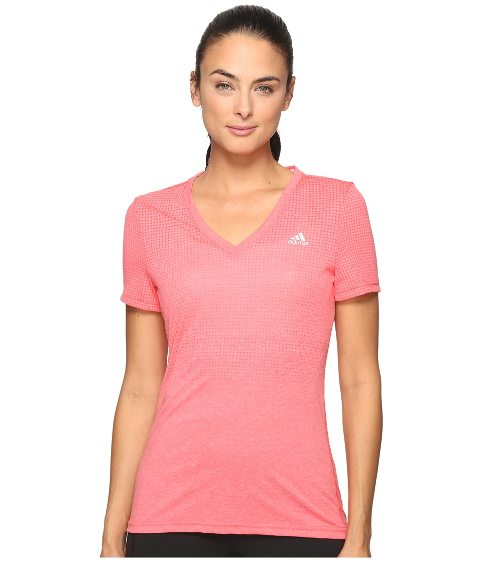 adidas - Aeroknit ClimaCool Tee (Shock Red) Women's Clothing