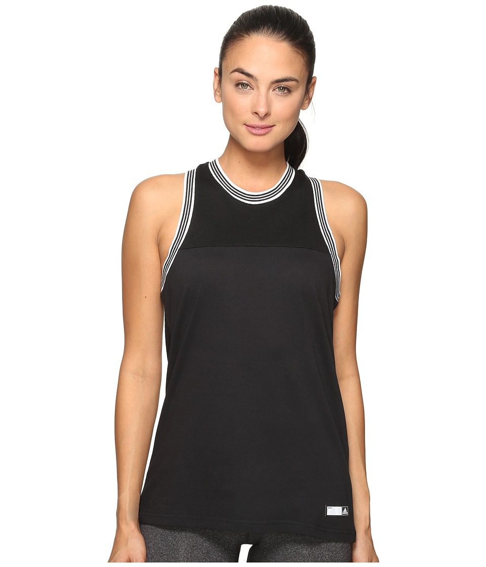 adidas - adiGirl Sporty Tank Top (Black) Women's Sleeveless
