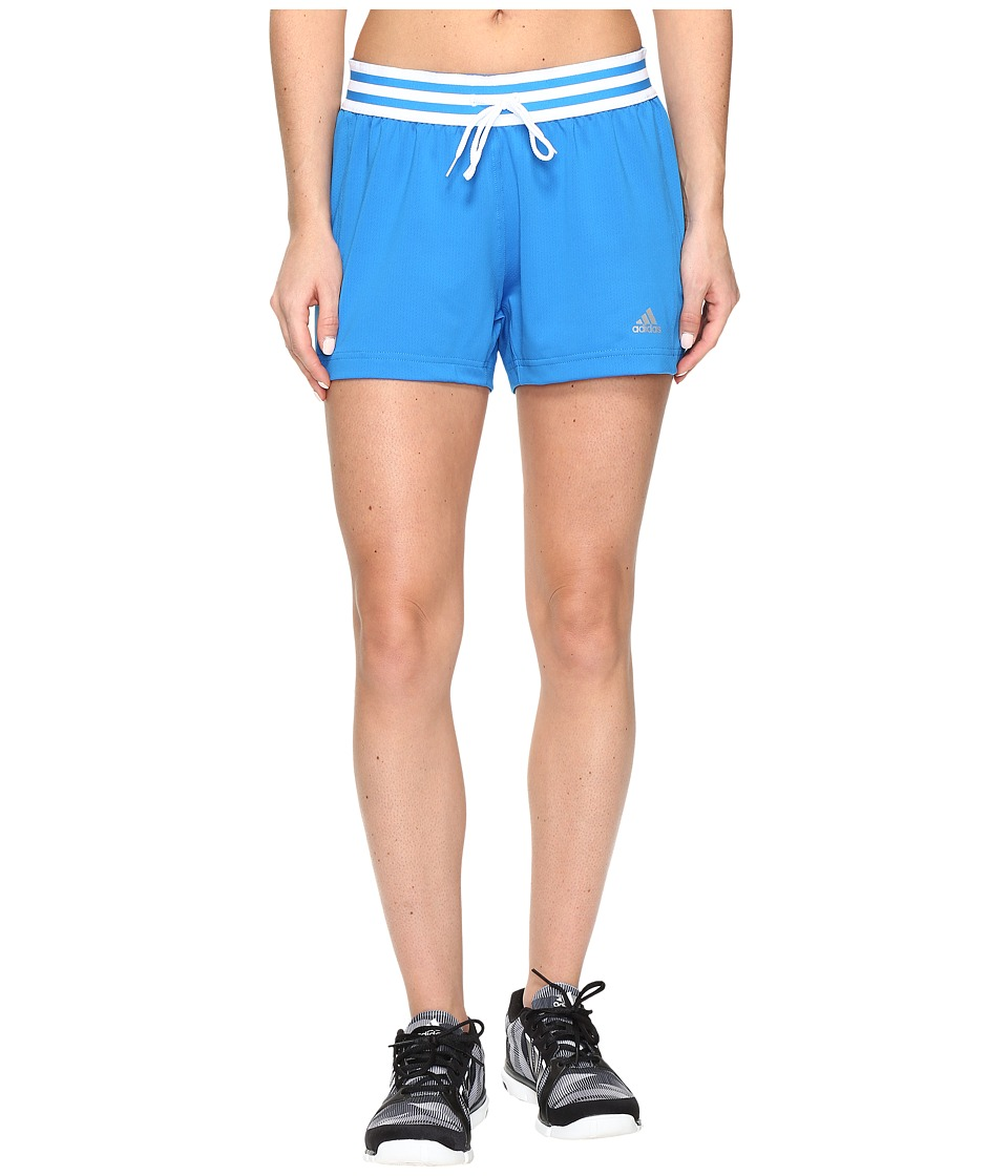 adidas - Knit Shorts (Shock Blue/White) Women's Shorts