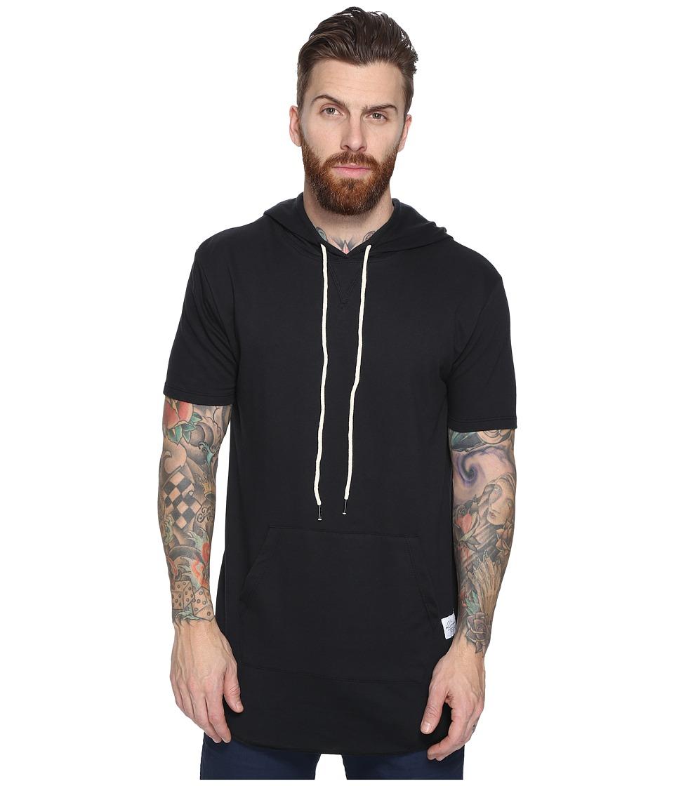 KINETIX - Buenas Aires Short Sleeve Hoodie (Black) Men's Sweatshirt