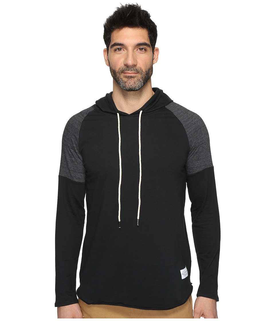 KINETIX - Aloha Long Sleeve Hoodie (Black) Men's Sweatshirt