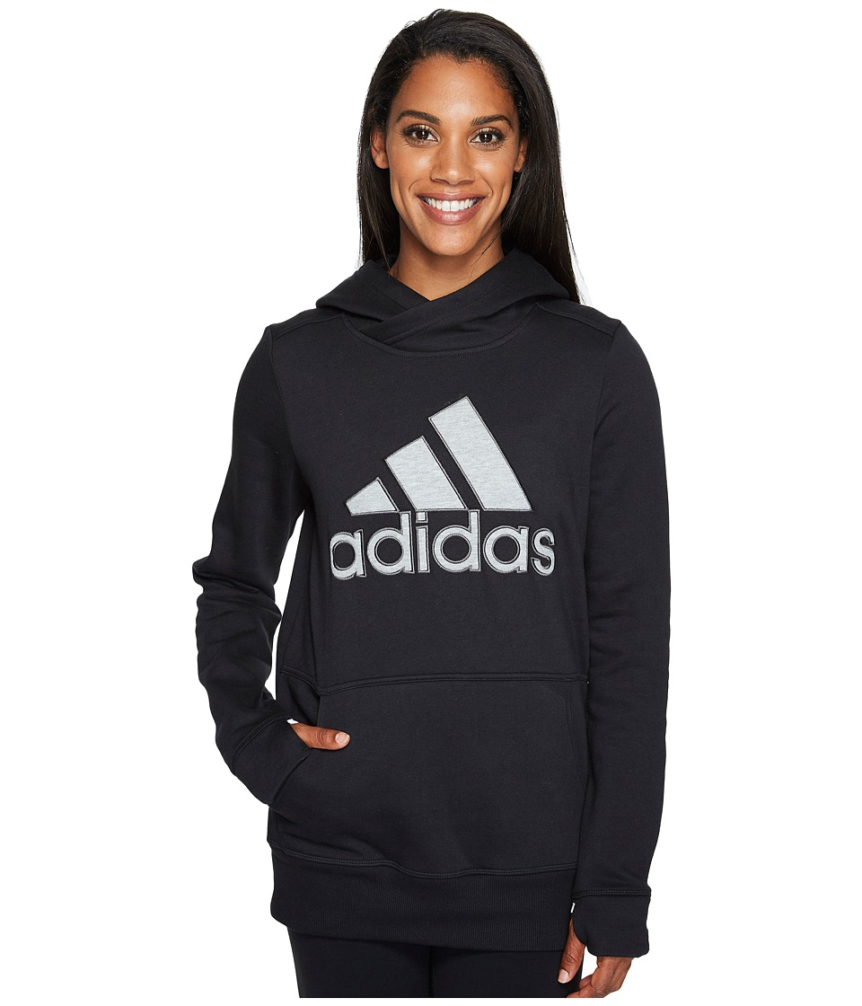 adidas - Logo Hoodie (Black) Women's Sweatshirt