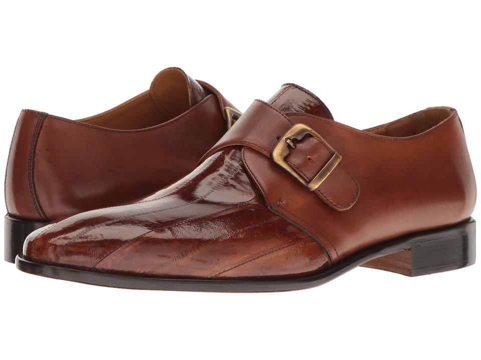 Massimo Matteo Eel Skin Monk Strap (Cognac) Men