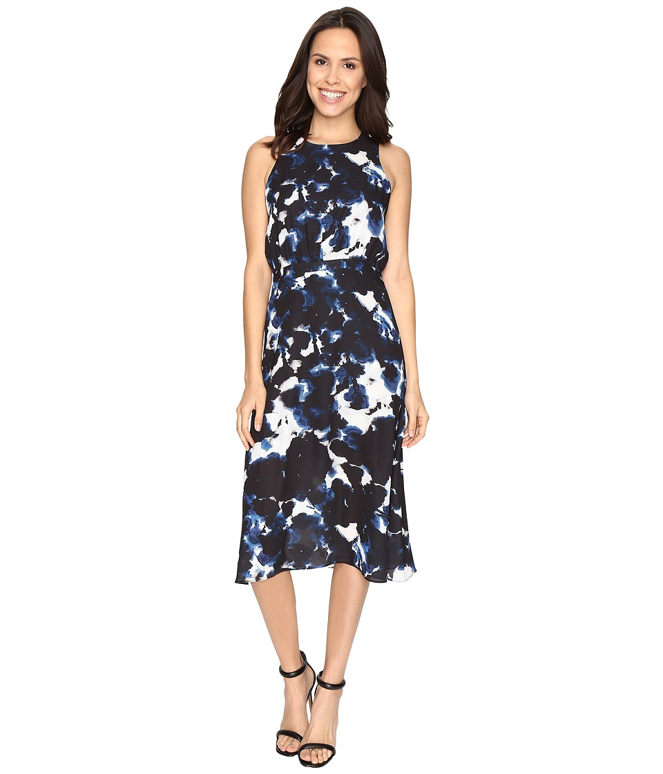 Brigitte Bailey - Duchess Watercolor Print Dress (Black Combo) Women's Dress