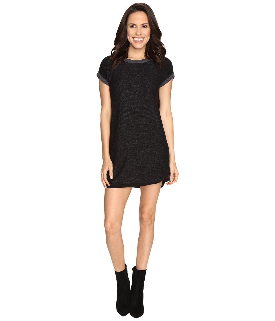 Brigitte Bailey - Chairman Marled Sweater Dress (Black Combo) Women's Dress