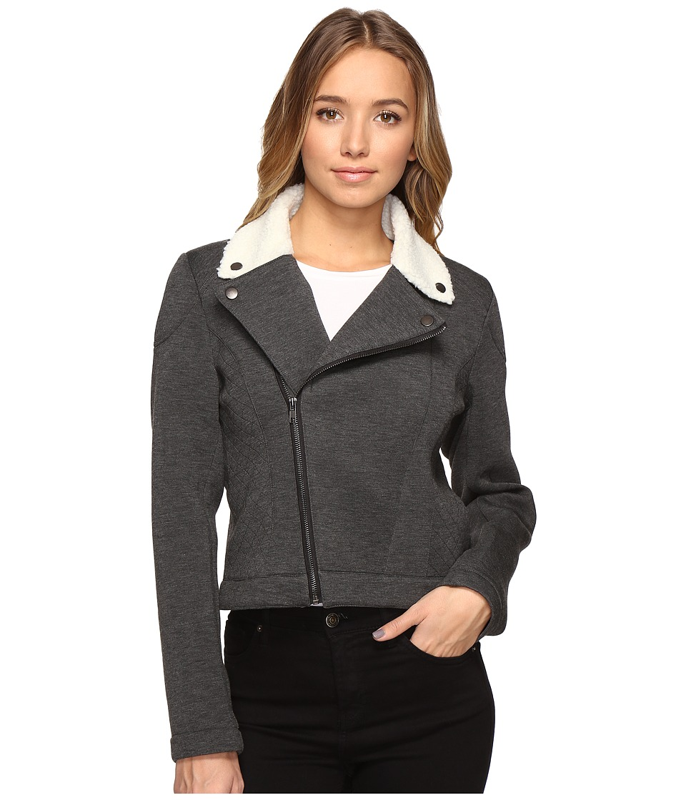 Brigitte Bailey - Baroness Moto Jacket (Charcoal) Women's Coat