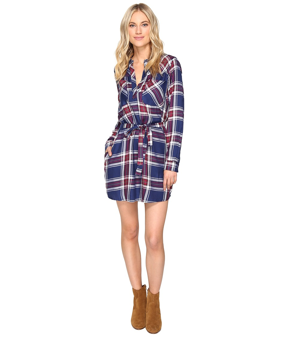Brigitte Bailey - Baron Plaid Shirtdress (Navy Combo) Women's Dress