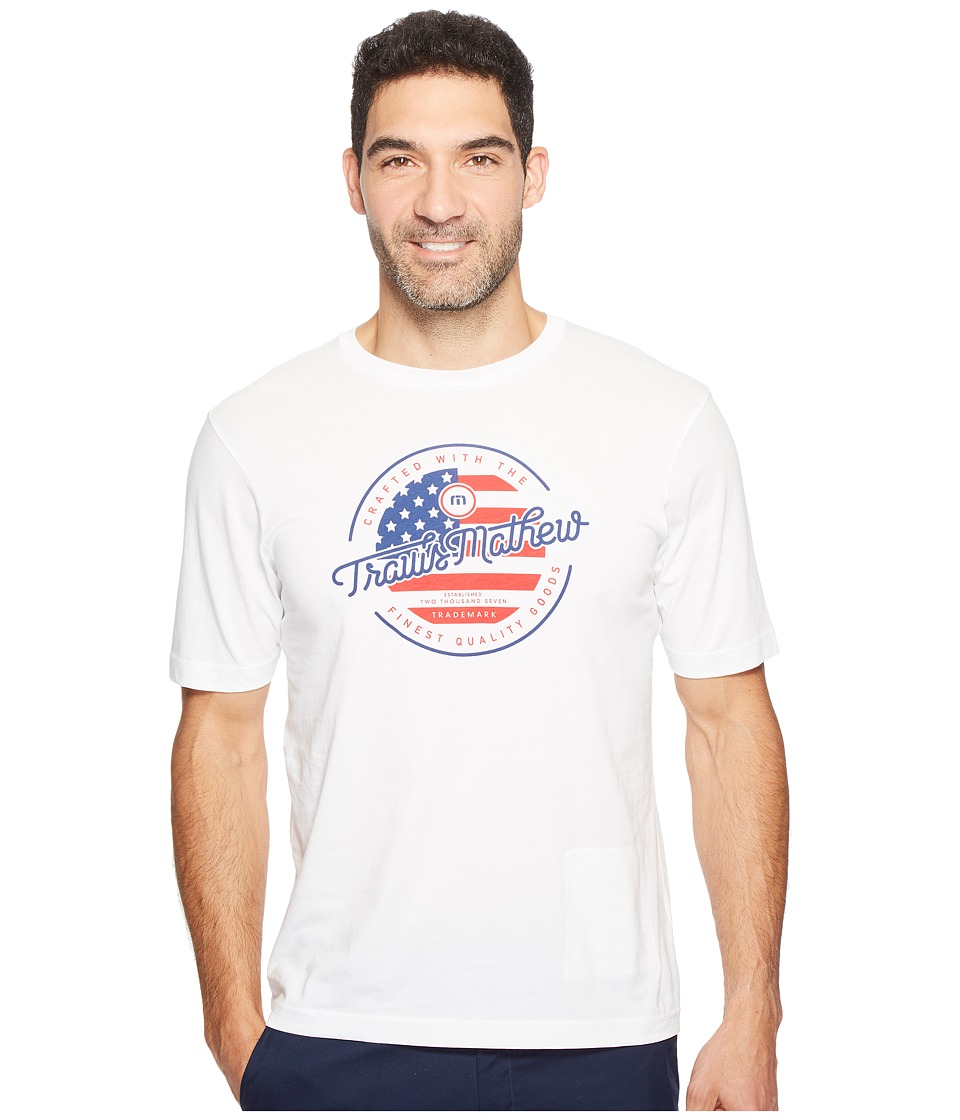 TravisMathew - Flying Eagle (White) Men's Clothing