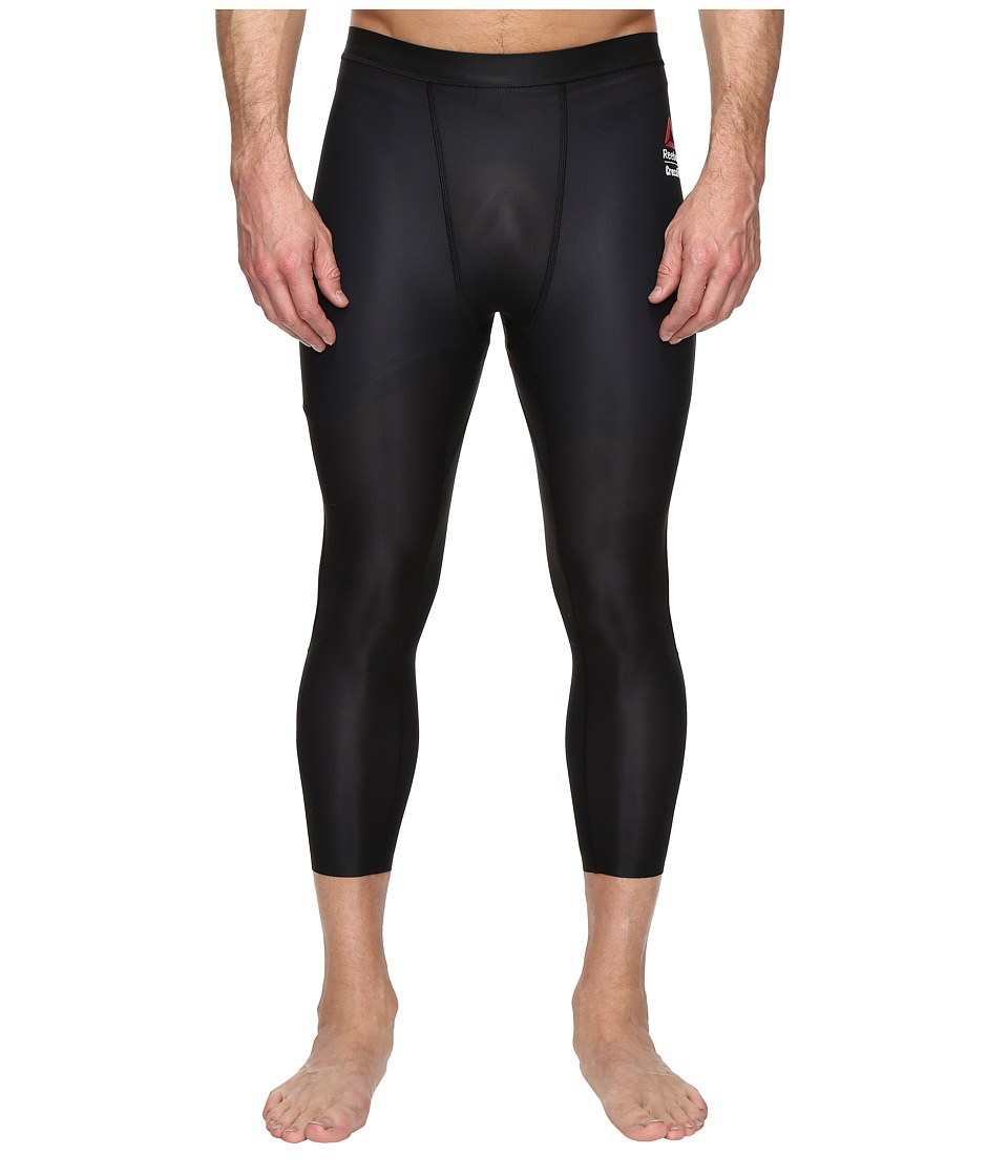 Reebok Crossfit 3/4 Compression Leggings (Black) Men