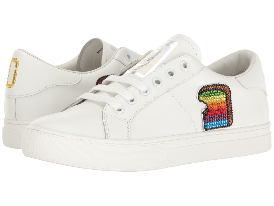 Marc Jacobs - Empire Toast Low Top Sneaker (White Multi) Women's Shoes