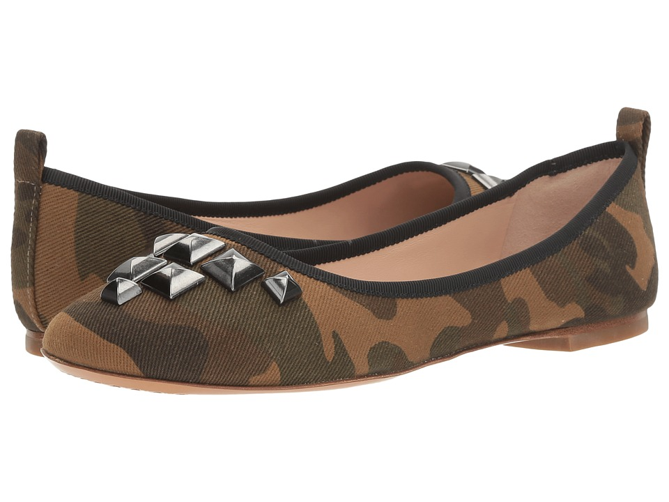 Marc Jacobs Cleo Studded Ballerina (Khaki Multi) Women