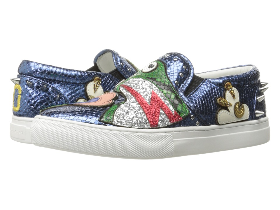 Marc Jacobs - Mercer Frog Skate Sneaker (Blue Multi) Women's Shoes