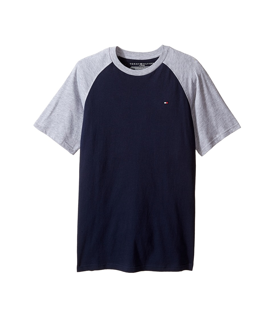 Tommy Hilfiger Kids - Gordon Short Sleeve Raglan Tee (Big Kids) (Swim Navy) Boy's T Shirt