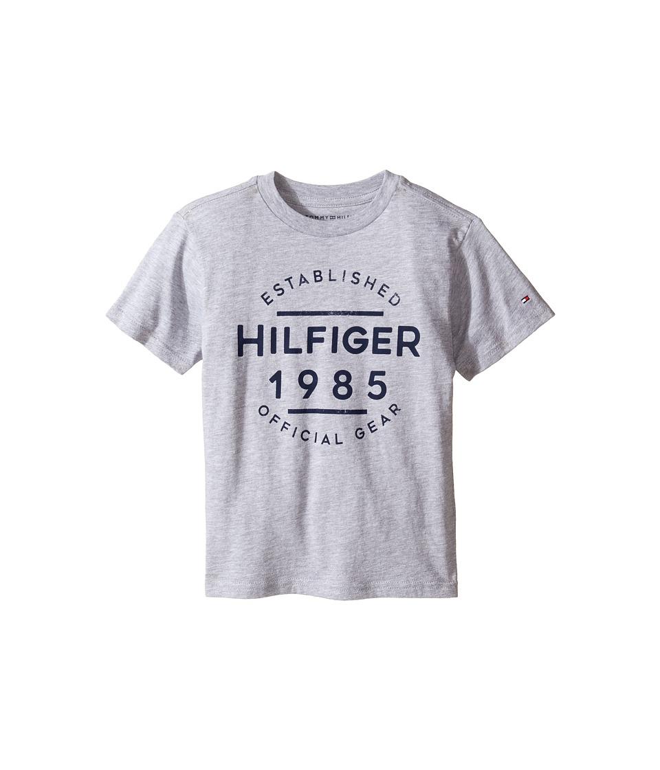 Tommy Hilfiger Kids - Hermes Short Sleeve Tee (Toddler/Little Kids) (Grey Heather) Boy's T Shirt