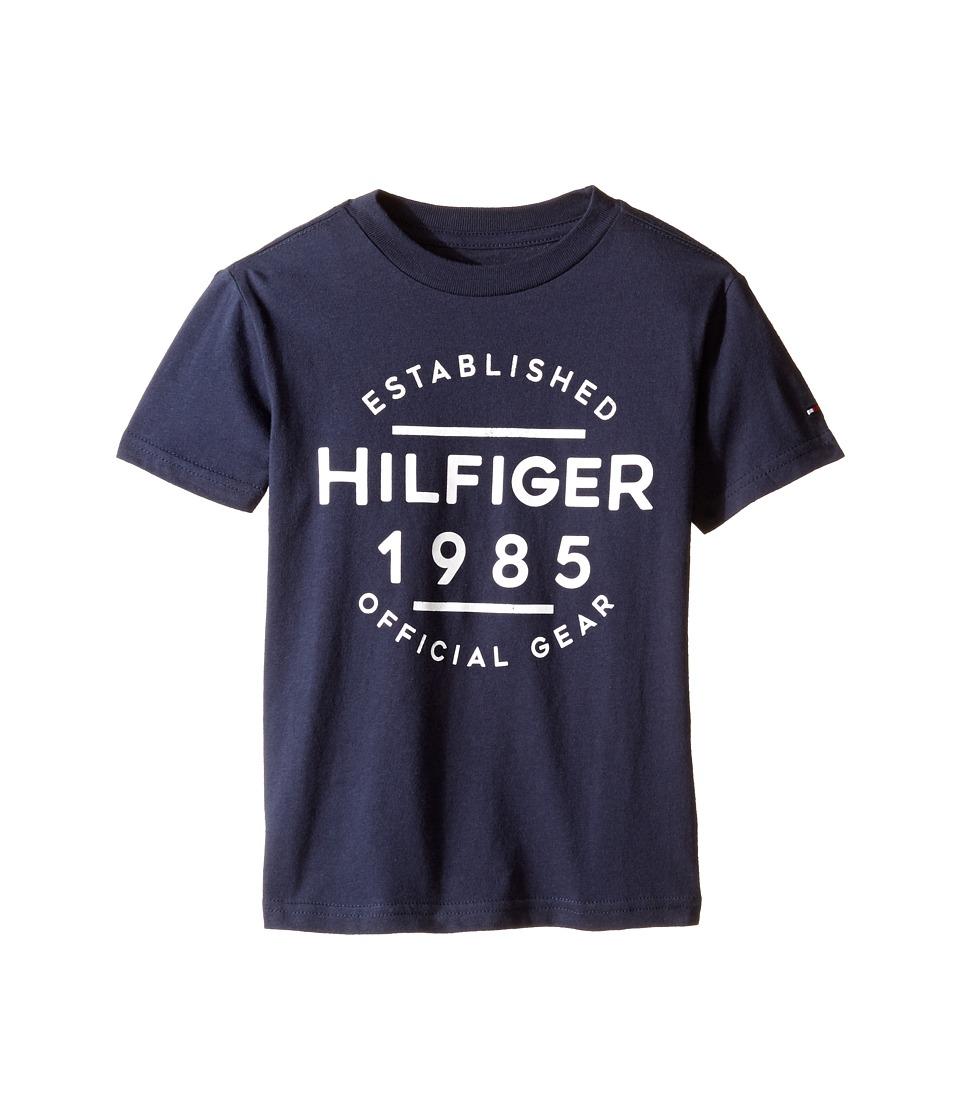 Tommy Hilfiger Kids - Hermes Short Sleeve Tee (Toddler/Little Kids) (Swim Navy) Boy's T Shirt