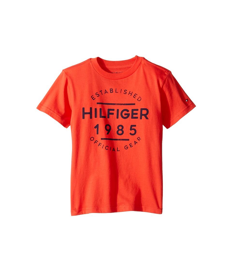 Tommy Hilfiger Kids - Hermes Short Sleeve Tee (Toddler/Little Kids) (Holly Red) Boy's T Shirt