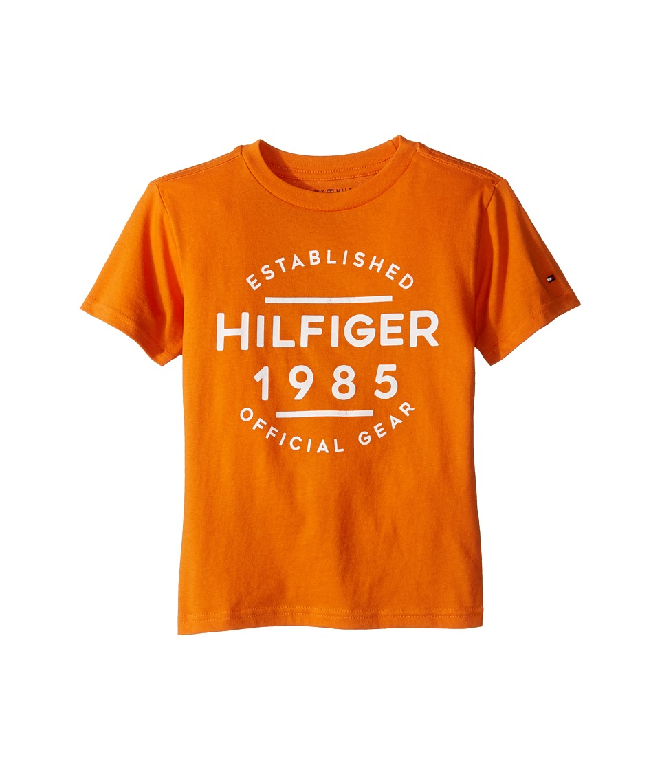Tommy Hilfiger Kids - Hermes Short Sleeve Tee (Toddler/Little Kids) (Russet Orange) Boy's T Shirt