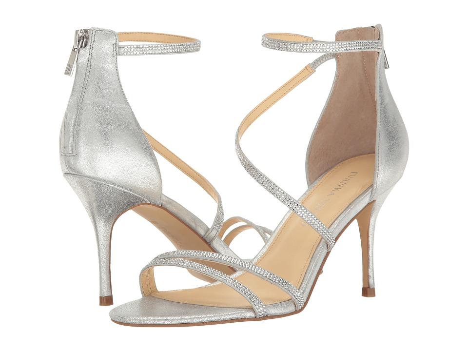 Ivanka Trump Genese Silver Suede Shoes
