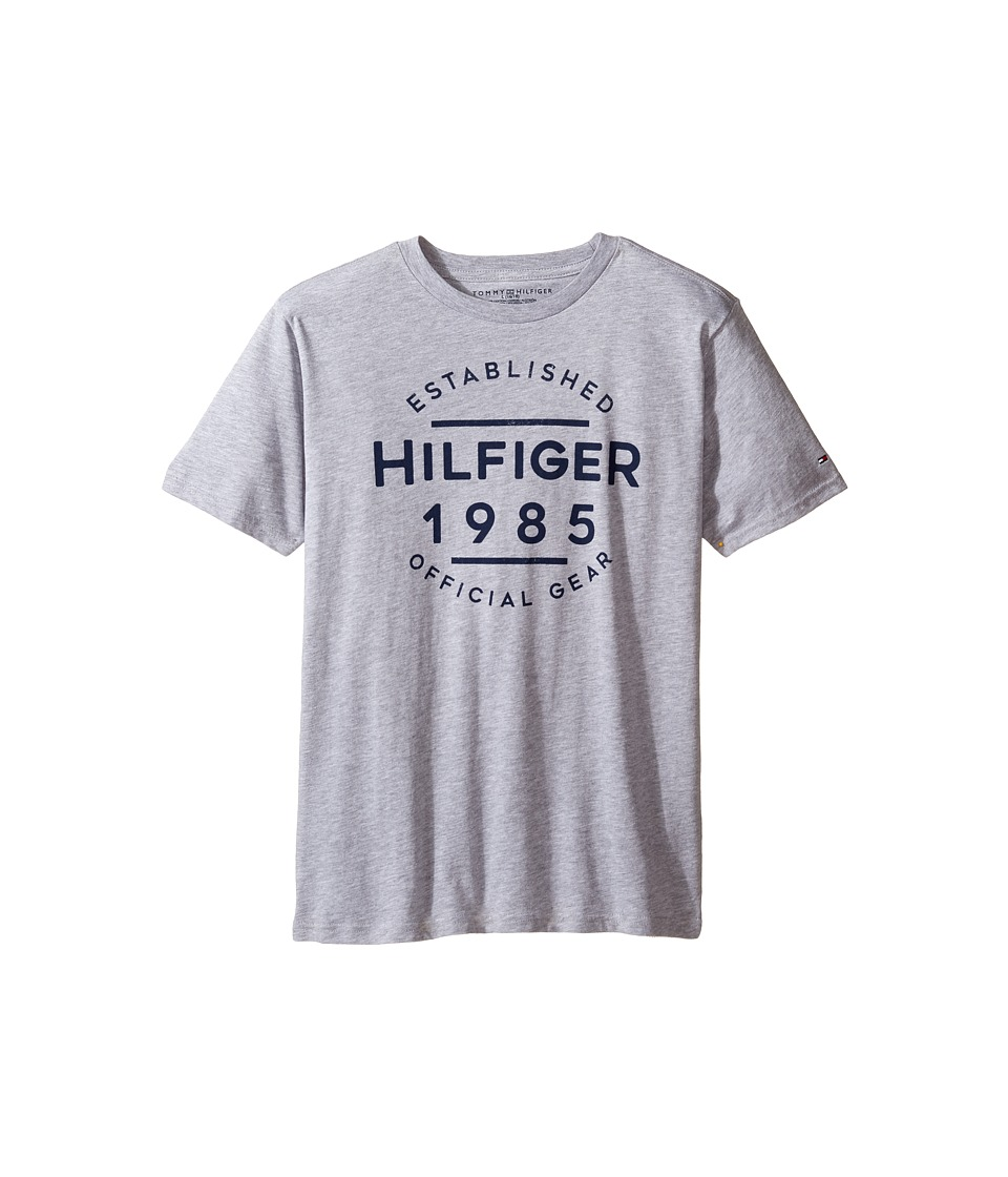 Tommy Hilfiger Kids - Hermes Short Sleeve Tee (Big Kids) (Grey Heather) Boy's T Shirt