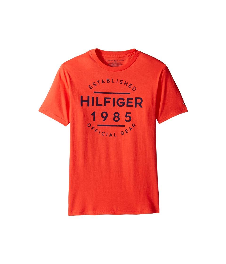 Tommy Hilfiger Kids - Hermes Short Sleeve Tee (Big Kids) (Holly Red) Boy's T Shirt