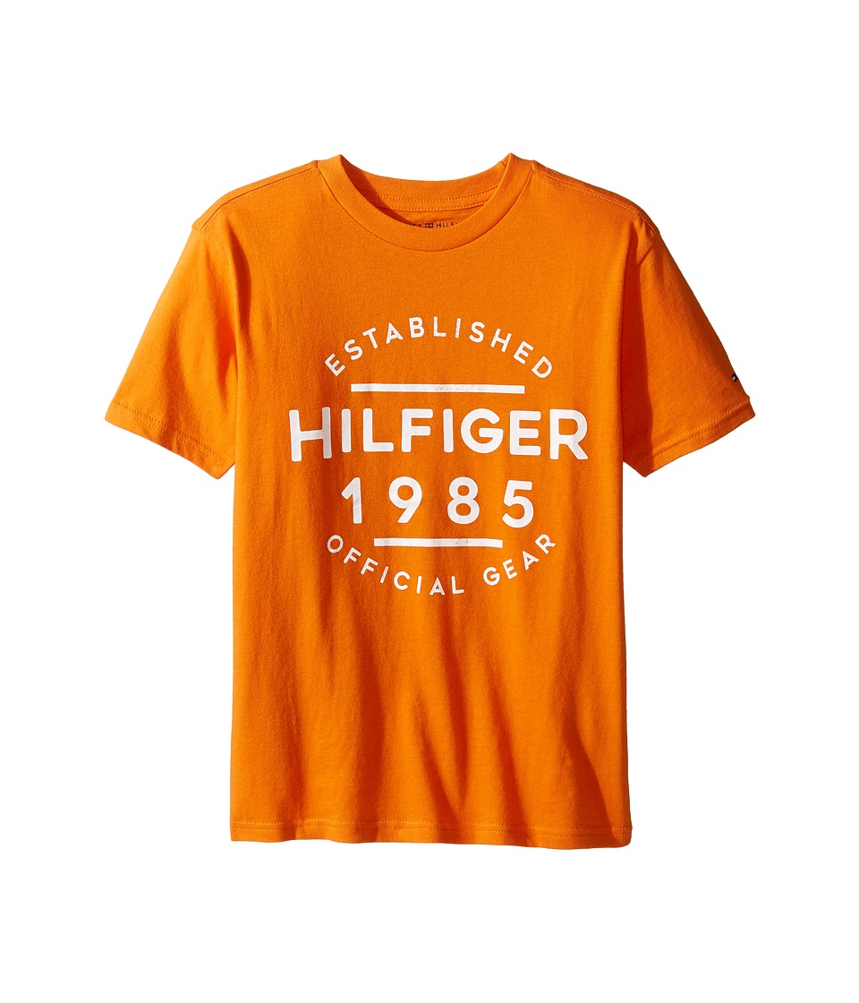 Tommy Hilfiger Kids - Hermes Short Sleeve Tee (Big Kids) (Russet Orange) Boy's T Shirt