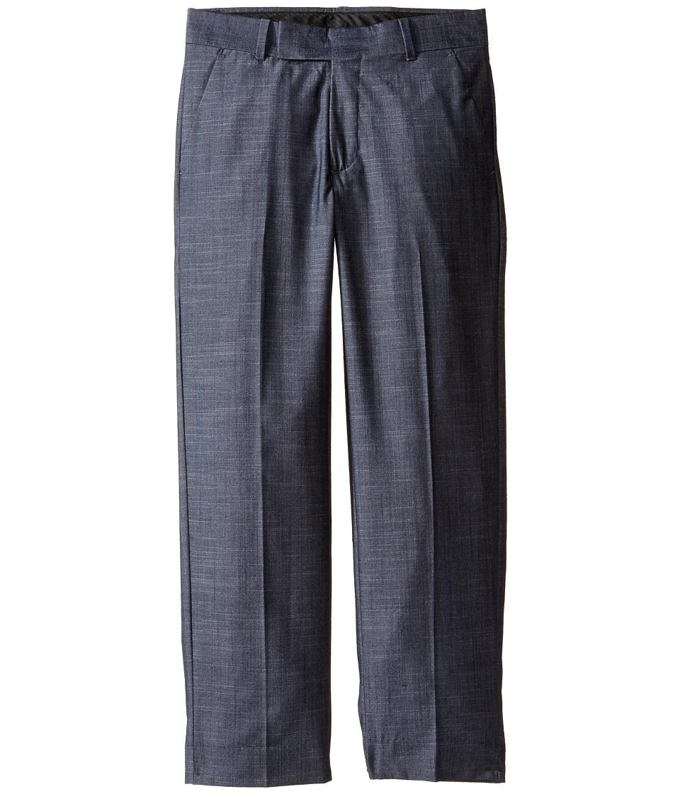Calvin Klein Kids - Cross Hatch Slub Pants (Big Kids) (Dark Blue) Boy's Casual Pants