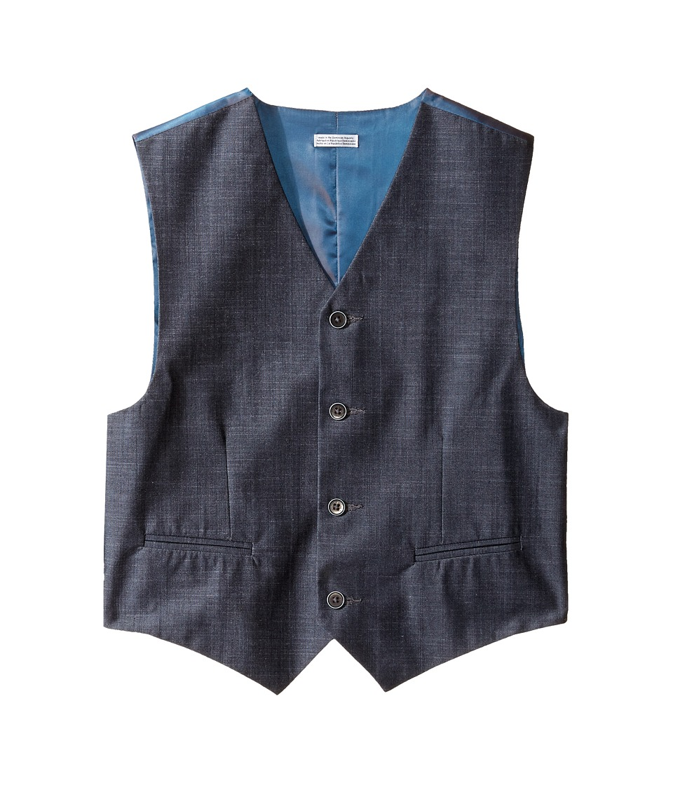 Calvin Klein Kids - Cross Hatch Slub Vest (Big Kids) (Dark Blue) Boy's Vest