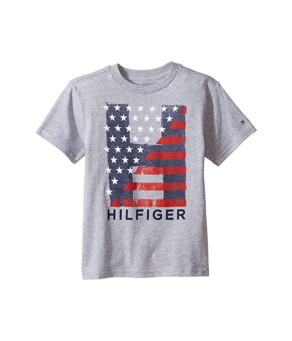 Tommy Hilfiger Kids - Homeroom Tee (Toddler/Little Kids) (Grey Heather) Boy's T Shirt