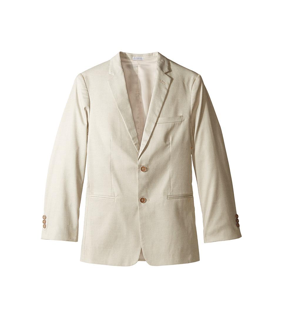 Calvin Klein Kids - Tick Weave Jacket (Big Kids) (Khaki) Boy's Coat