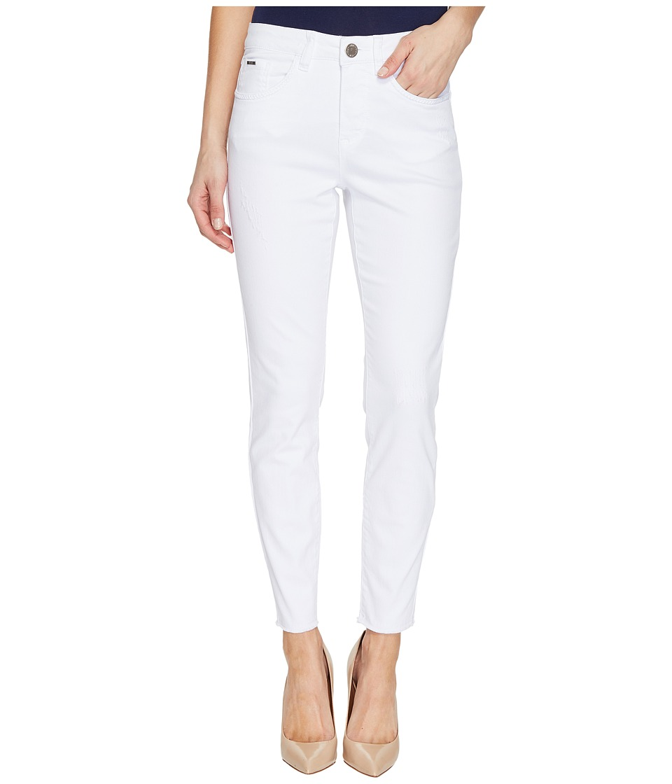 FDJ French Dressing Jeans - Olivia Fashion Slim Ankle Zigzag Frayed Hem in White (White) Women's Jeans